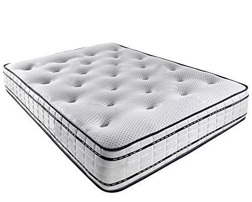 Mattress-Haven Pocket Sprung Memory Foam Mattress - 1000 Springs - Soft / Medium5FT - Kingsize