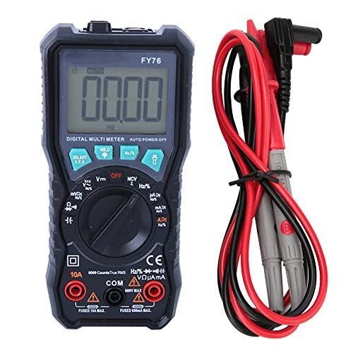 Multímetro digital, multímetro digital de rango automático FY76 0~600V AC DC Verdadero probador RMS con pantalla LCD, medidor portátil de bolsillo Equipo industrial