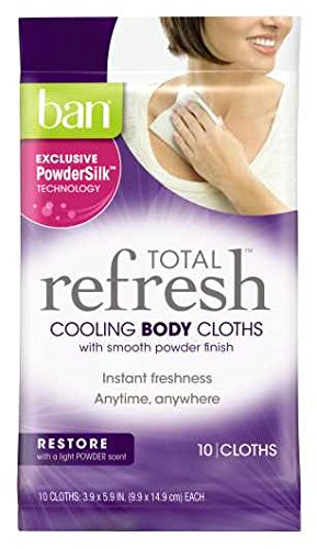 Ban Total Refresh Cooling Body Cloths, Restore, 20 Count
