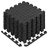 Yes4All Interlocking Exercise Foam Mats with Border – Interlocking Floor Mats for Gym Equipment...
