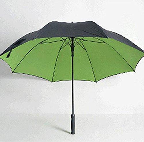 WYF-YS Paraguas de Mango Largo Doble Mango Recto Viento de Gran tamaño Paraguas Soleado Hombres Frescos Paraguas publicitario Creativo (Color : B)