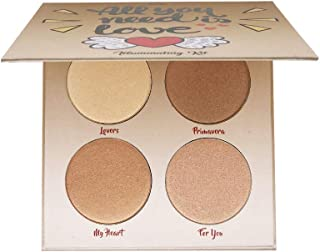 Highlighter Palette,Highlighter Makeup Palette, Glow Bronzer Highlighter Powder Kit,Face illuminator makeup palette