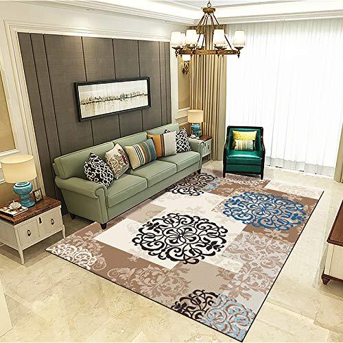 Nordischer Geometrischer Ethnisch Bedruckter Rutschfester Teppich Moderner Minimalistischer Stil Bodenmatte Schlafzimmer Nachttisch Couchtisch Sofa Hotel Restaurant Teppich