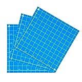 JRUIAN Accesorios de Impresora 1 Pieza Etiqueta de Placa de Hoja de construcción de Cama Caliente Azul 220x220 mm Impresora 3D Etiqueta de Cama con calefacción esmerilada para Wanhao Anet A8