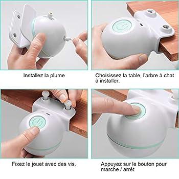 ZITFRI Jouet pour Chat Jouet interactif Chat Automatique Jouet Chats avec Plume