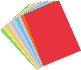 Color A4 Paper, 100 Pcs A4 DIY Craft Origami Paper for Coloured Printer Paper, DIY Arts, Crafts, Paper Cutting(10 Colors)