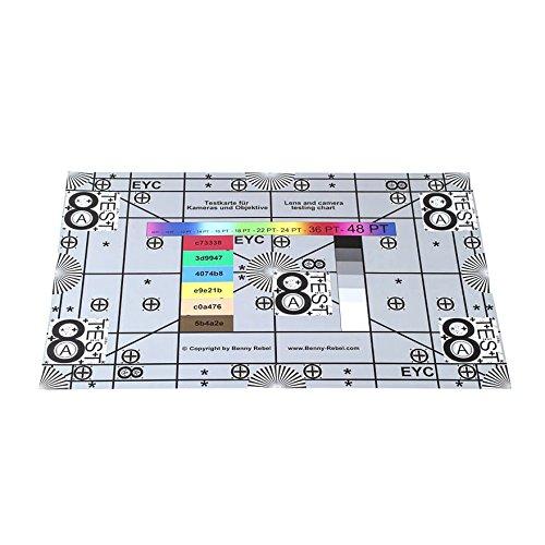 Enjoyyourcamera Testkarte (Testtafel, Test Chart) zum Prüfen von Kamera und Objektiv 30 x 45 cm 400 DPI