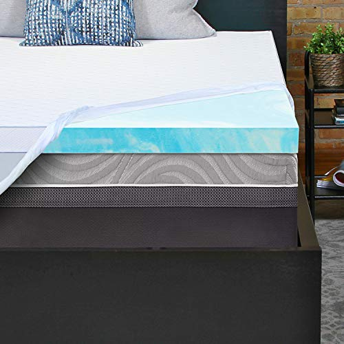 Sealy Essentials 3-Inch Gel Memory Foam Mattress Topper, Queen