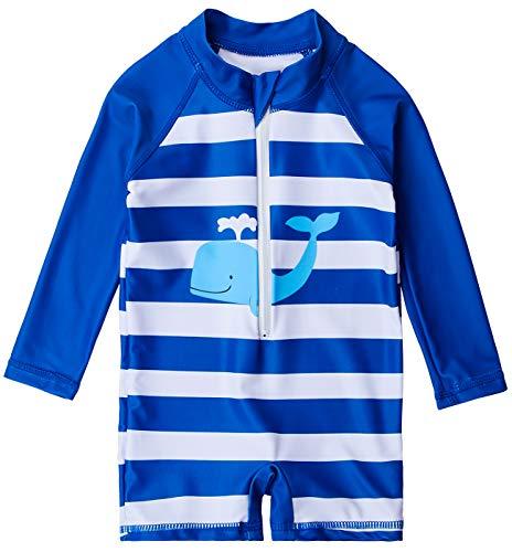 uideazone Kids Boys Rash Guard Bathing Suit One Piece Sunsuit Long Sleeve Swimwear UPF 50+ 18-24 Months