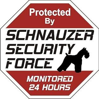 "Schnauzer Dog Yard Sign ""Security Force Schnauzer"""