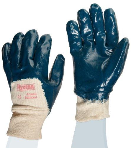 Ansell Hycron 27-600 Gants oléofuges, protection mécanique, Bleu, Taille 9 (Sachet de 12 paires)
