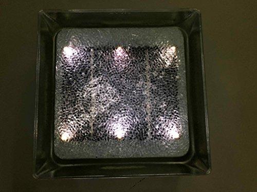 Fliese Glasbaustein Beleuchtungs Photovoltaik überfahrbar Wasserdichtes Unterwasser/ Bianco Stagna Ip66