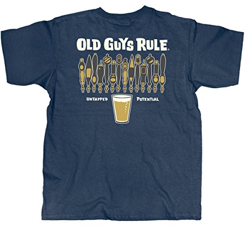 """OLD GUYS RULE """"Untapped Potential"""" Navy Men's T-Shirt (XX-Large)"""