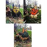 Jardín Korok Set - Decoración de artesanía de la familia de la hoja de la hoja de cristal, ornamentos artísticos únicos Esculturas y estatuas del jardín de hadas para el patio del patio del jardín del