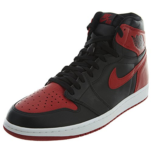 Nike Air Jordan 1 Retro High OG, Scarpe da Basket Uomo, Nero (Black/Varsity Red-White), 46 EU