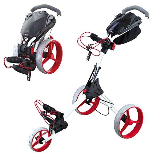 BIG MAX IQ+ Golftrolley Cart (Weiß/Rot)