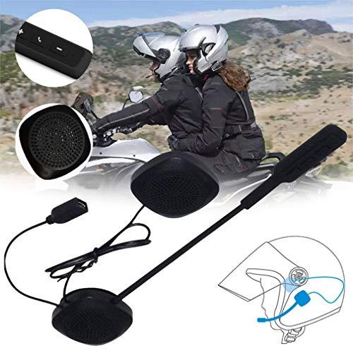 MH03 Auriculares para Casco de Motocicleta Auriculares Manos Libres para Motocicleta para música GPS Negro