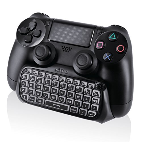 Nyko Type Pad - Bluetooth Mini Wireless Chat Pad Message Keyboard with Built-in Speaker and 3.5mm Jack for PlayStation DualShock 4 Controller