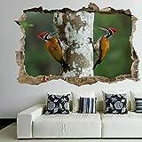 wall sticker Woodpecker Bird 3D Wall Art Sticker Mural Decal Poster Kids Room Home Decor