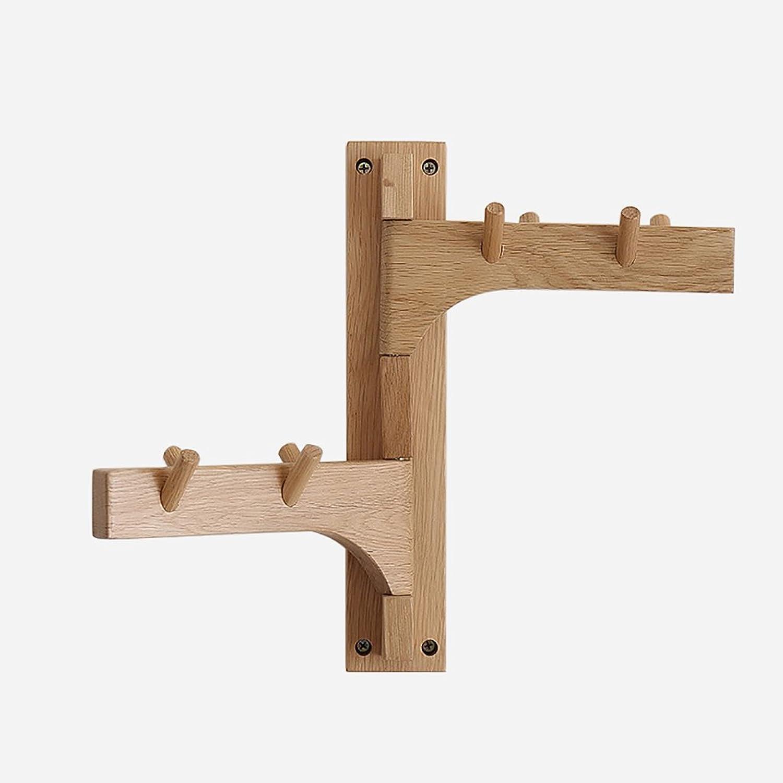 Coat Rack Nordic Style Creative Wood Wall Coat Hanger Solid White Oak Wall Hanger Simple Modern Wood Coat Rack