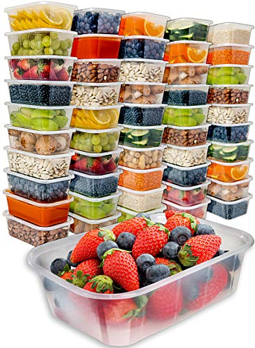 Food Storage Containers with Lids (50 Pack, 25 Ounce) - Food Containers Meal Prep...