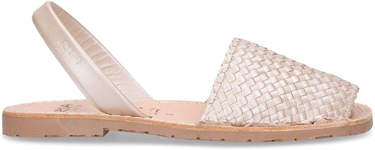 RIA MENORCA Women's 21397B Beige Leather Sandals