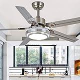Qinmo Luces de ventilador de techo, lámpara del LED, de 42 pulgadas control remoto de la lámpara, simple moderna Ventilador de techo, lámpara LED con el ventilador