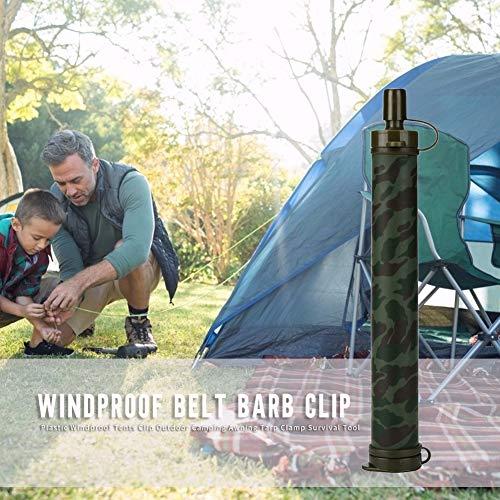 Sans logo ABS Purificateur d'eau Portable Camping Randonnée Urgence Survie Purificateur d'eau Camouflage, Vert
