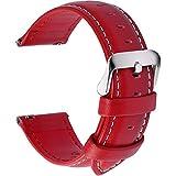 Fullmosa 14mm 16mm 18mm 19mm 20mm 22mm 24mm Bracelet Montre en Cuir Véritable, 12...