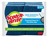 Scotch-Brite Non-Scratch Scrub Sponges, 6 Scrub Sponges, Lasts 50%...
