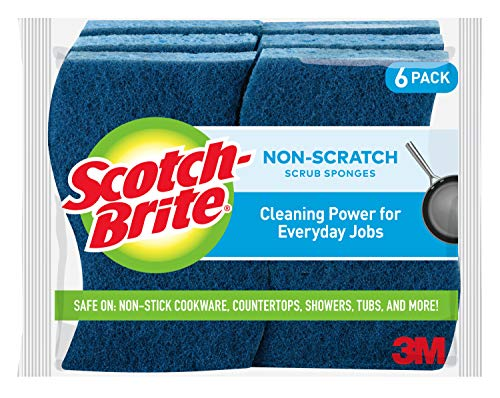 Scotch-Brite Non-Scratch Scrub Sponges, 6 Scrub Sponges