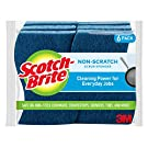 Scotch-Brite Non-Scratch Scrub Sponges, 6 Scrub Sponges, Lasts 50% Longer than the Leading National Value Brand