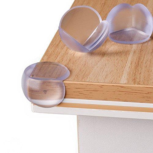 Baby Kantenschutz mit Super Power - Halten bombenfest - Eckenschutz transparent, selbstklebend (12er Set) - Schutz vor scharfen Ecken u. Kanten