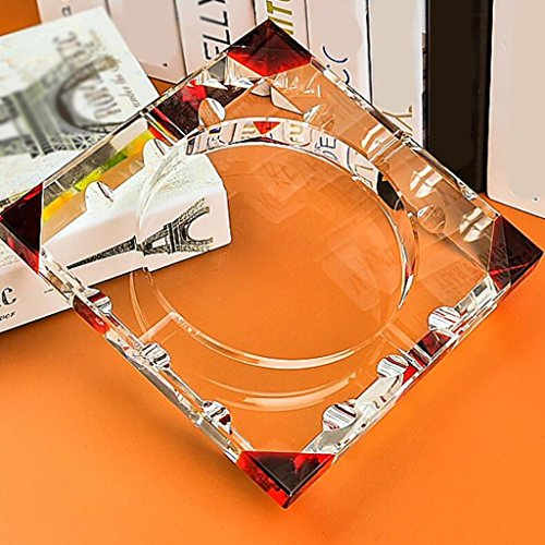 cendrier Xuan - worth having angulaire rouge Mode Cadeaux créatifs Cristal Cristal cristal Décoration de salon (taille : 20*20cm)