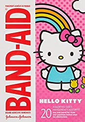 Band-Aid Brand Adhesive Bandages Featuring Hello Kitty, Assorted Sizes, 20 Count