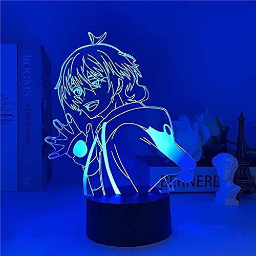 FUTYE 3D anime ilusión noche lightmiya chino Sk∞ lámpara de escritorio LED niños s regalo Sk8 el infinito dormitorio decoración control remoto