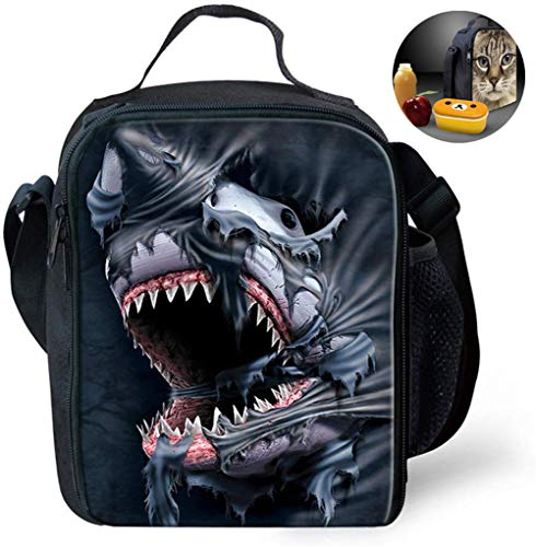 Coolest 3D-Druck für Kinder Insulated Lunch Bag Multi Convertible Kinder Stilvolle Resuable Cross Thermal Lunchbox Tragetaschen Personality Boys & Girls tragbare Kühlbox Behälter-Kasten,A