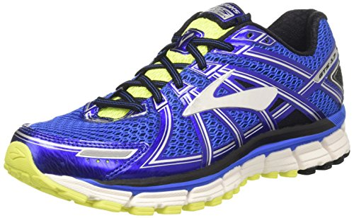 Brooks Adrenaline GTS 17, Scarpe da Corsa Uomo, Blu (Electric Blue/Black/Nightlife), 42.5 EU