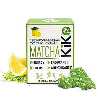 Matcha KiK Performance Chews -Energy, Endurance, Mental Focus, Antiioxidants - Lemon Flavor?