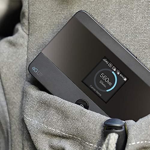 TP-Link M7350 mobiler WLAN Router (4G/LTE bis zu 150Mbit/s Download/ 50Mbit/s Upload, Hotspot, Cat4, 2000mAh Akku, LCD Display, kompatibel mit allen europäischen SIM Karten) schwarz