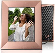 Nixplay Iris 8 Inch WiFi Digital Picture Frame Peach Copper - Share Moments Instantly via App or E-Mail