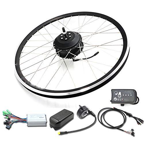 SPORTS Kit Bicicleta eléctrica de 36V 500W Kit Bicicleta eléctrica 20 26 27,5 28 Pulgadas 700C Frontal Trasera Motor de Ruedas eléctrica,26inch Front LED