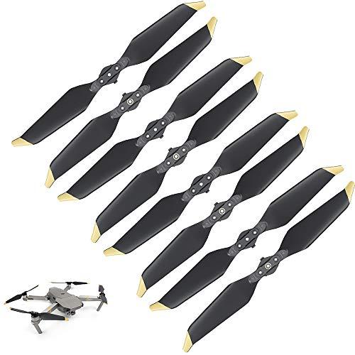 HeiyRC 8Pcs Low-Noise Propellers for DJI Mavic Pro/Mavic Pro Platinum Drone,8331 Quick-Release Folding Replacement Props,4 CCW+4 CW
