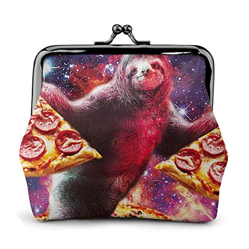 in Galaxy Se Coin Purse Wallet Buckle Kiss-Lock Small Leather Change Pouch Gift for Women