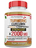 Super Strength 2000mg - Turmeric Curcumin with BioPerine (Black Pepper) Extract. 120 Fast Acting Pills - Natural Anti-inflammatory Supplement to Support The Reduction of Joint Pain & Boost Immune.