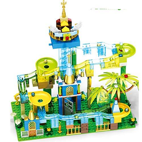LuckyOne Technic Ideas Eléctrica Variedad Ejecutar Bola Edificio Legoinglys Bloques Pista Ladrillos Juguetes Niños