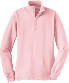 Ladies Athletic 1/4-Zip Sweatshirt in Sizes XS-4XL