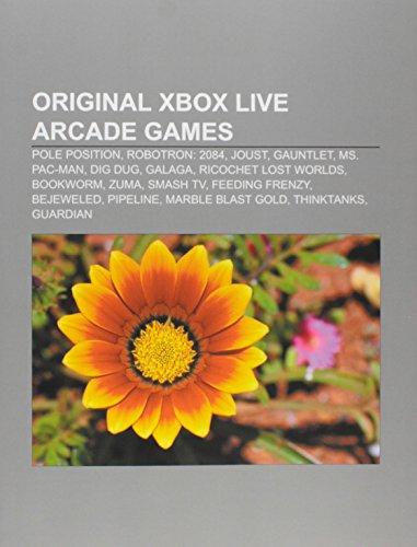 Original Xbox Live Arcade games: Pole Position, Robotron: 2084, Joust, Gauntlet, Ms. Pac-Man, Dig Dug, Galaga, Ricochet Lost Worlds, Bookworm: Pole ... Marble Blast Gold, ThinkTanks, Guardian