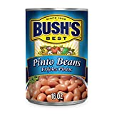 BUSH'S BEST Pinto Beans, 16 Ounce Can, Canned Beans, Pinto Beans Canned, Source of Plant Based Protein and Fiber, Low Fat, Gluten Free, For Soups, Salads and More