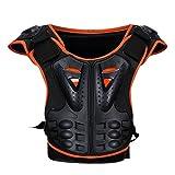 Aesy Gilet Armatura da Moto Protezione di Motocross Per Bambini, Armatura della Guardia del Corpo Scooter Ciclismo Pattinaggio Sciare Protezione del Spina Dorsale Protezione del Torace (M)